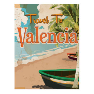 Valencia,Spain Vintage vacation Poster Post Cards