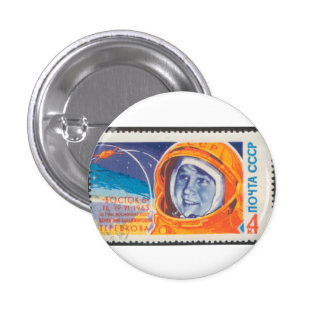 Valentina Vladimirovna 1st Woman in Space Pinback Buttons