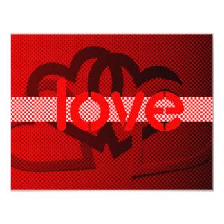 Valentine 11 Cm X 14 Cm Invitation Card