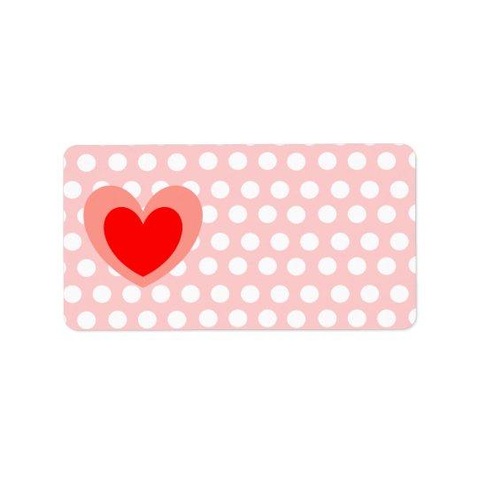 Valentine Address Label