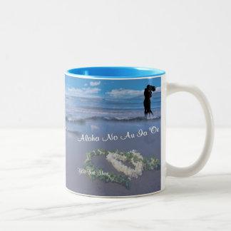 Valentine - Aloha No Au Ia 'Oe  (I Truly Love You) Two-Tone Coffee Mug