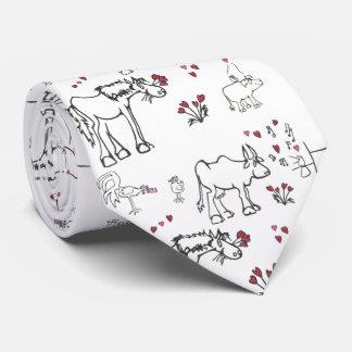 Valentine Animals Tie