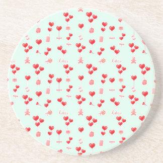 Valentine Balloons Beverage Coaster