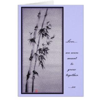 Valentine bamboo Card