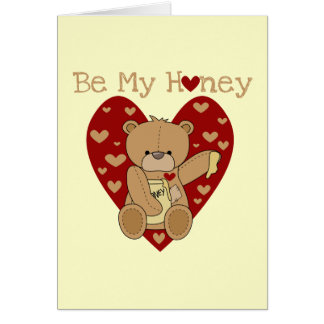 Valentine Be My Honey Tshirts and Gifts Card