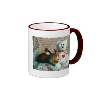 Valentine Bear and Bug Ringer Mug