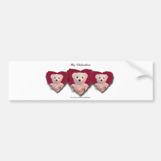Valentine Bear Heart Bumper Sticker