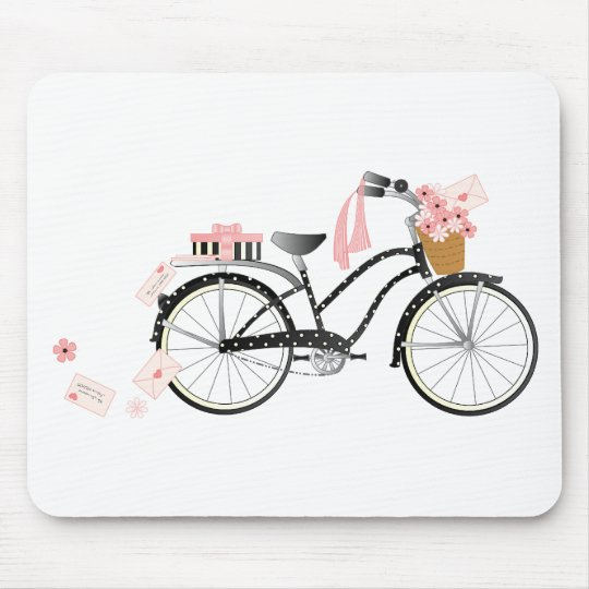 Valentine Bicycle Mouse Pad