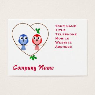 Valentine Birds Business Card