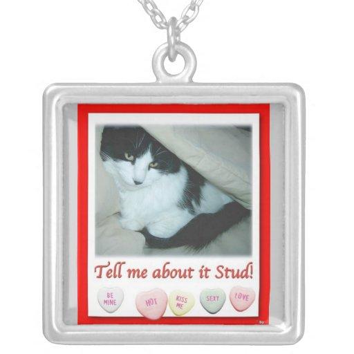 Valentine Black and White Cat Custom Jewelry