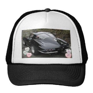 Valentine Black Corvette Trucker Hat