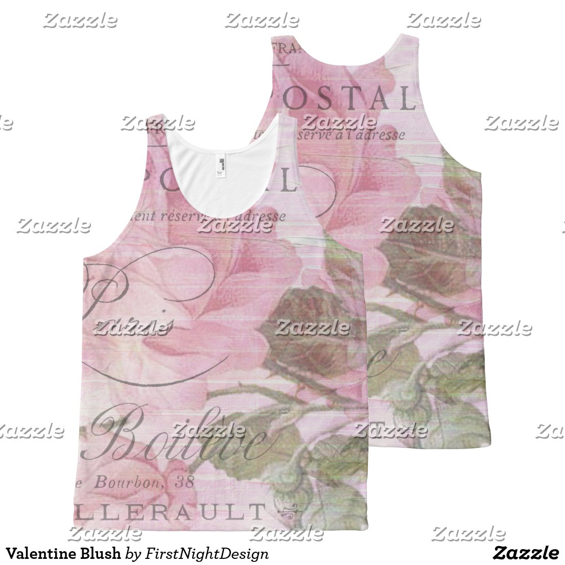 Valentine Blush All-Over Print Tank Top