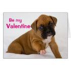 Valentine Boxer Puppy Card