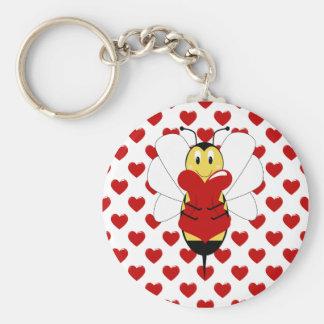 Valentine Bumble Bee Keychain