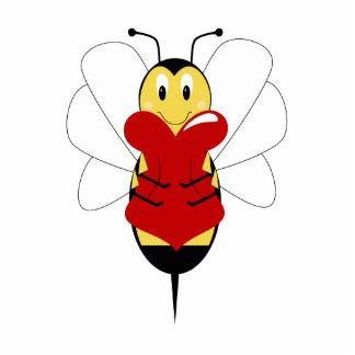 Valentine Bumble Bee Ornament Photo Sculpture