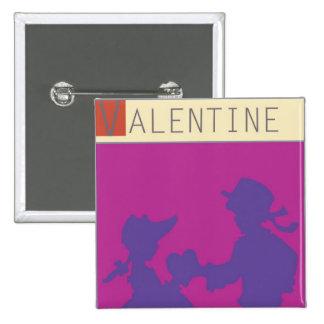 <Valentine> by Steve Collier 15 Cm Square Badge