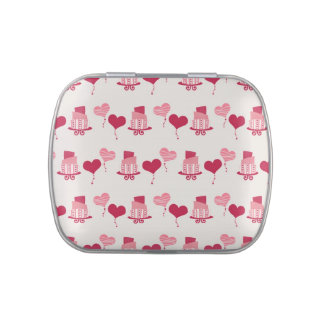 Valentine Cake and Balloons jpg Candy Tin