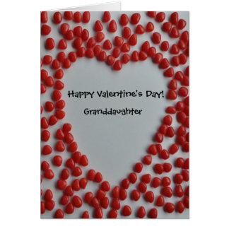 valentine candy heart for granddaughter card
