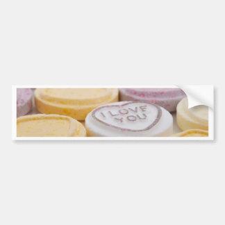 Valentine Candy Hearts Bumper Stickers