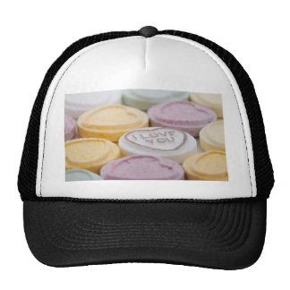 Valentine Candy Hearts Cap