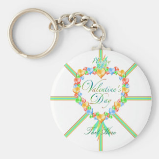 Valentine Candy Hearts Custom Keychain