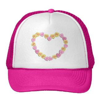 Valentine Candy Hearts Heart Cap