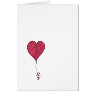 Valentine Card - no words - heart balloon
