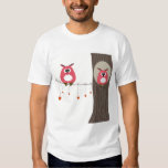 Valentine card with owls couple. shirt