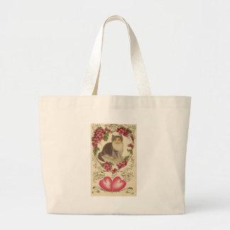 Valentine Cat Tote Bags