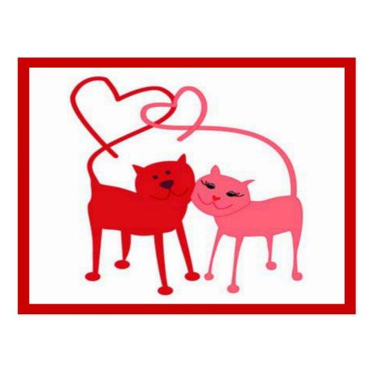 Valentine Cats Postcard