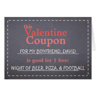 Valentine Chalkboard Coupon Card