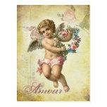 Valentine Cherub - Amour Post Cards