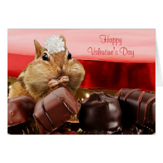 Valentine Chipmunk Greeting Card