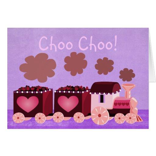 Valentine Choo Choo Train Greeting Card