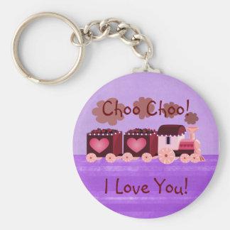 Valentine Choo Choo Train Keychain