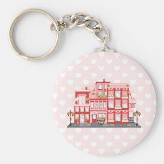 Valentine City Basic Round Button Key Ring