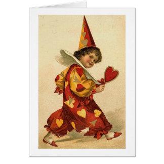 Valentine Clown (2) Greeting Card