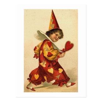 Valentine Clown (2) Postcard