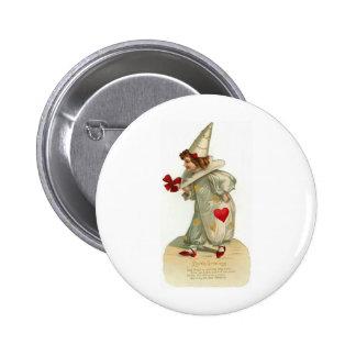 Valentine Clown Pin