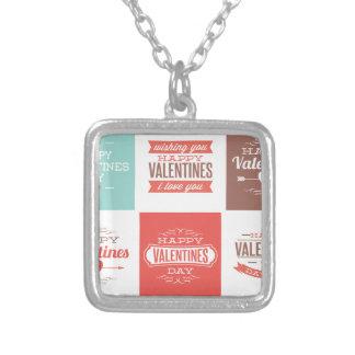 Valentine Collection Square Pendant Necklace