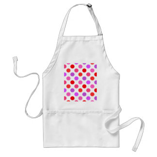 Valentine Colors Polka Dots Standard Apron