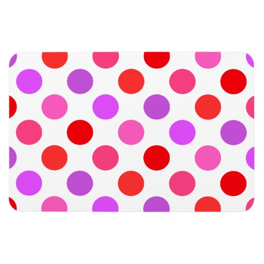 Valentine Colours Polka Dots Rectangular Photo Magnet