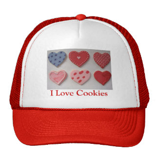 Valentine Cookie Hearts Trucker Hats
