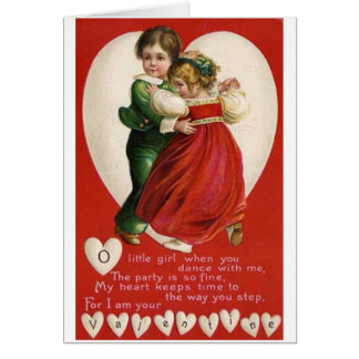 Valentine Couple Dancing Card