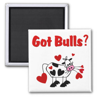 Valentine Cow With Black Heart Spots Magnets