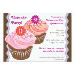 Valentine Cupcakes Personalized Announcement
