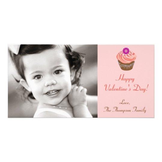 Valentine Cupcakes Photo Card Template