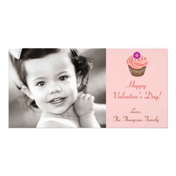 Valentine Cupcakes Photo Card Template