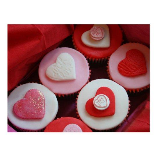 Valentine Cupcakes Postcard
