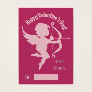 Valentine Cupid custom text handout cards